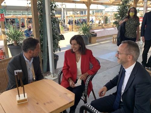 López es reuneix amb Anne Hidalgo i la felicita per ser l'escollida del PS francès a les presidencials