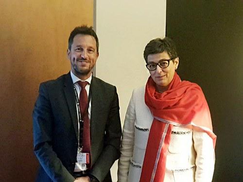 Pere López es reuneix amb la ministra d'Afers Exteriors espanyola